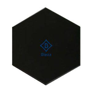กระเบื้องหกเหลี่ยมสีดำ